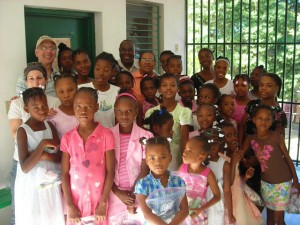 Sid at Haitian orphanage